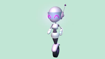 3D Kawaii Happy Robot by Chocovanille