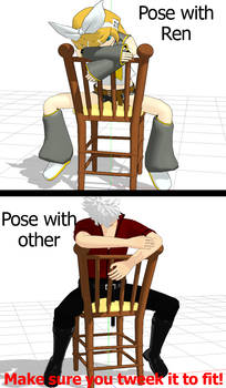 [MMD] Straddle Chair pose
