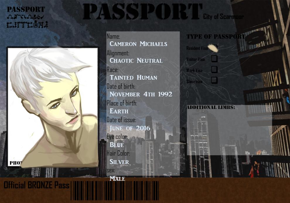 Cameron's Scarmoor Passport by shadefeather413