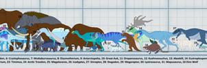 Ice Dinosaurs size