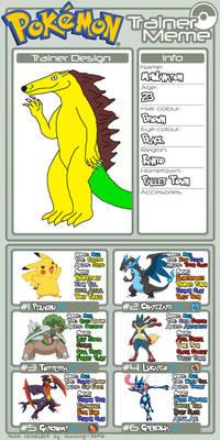 MrWanapon Pokemon Trainer Profile Meme