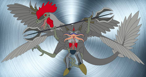 Jianianhualong Warrior of the Rooster