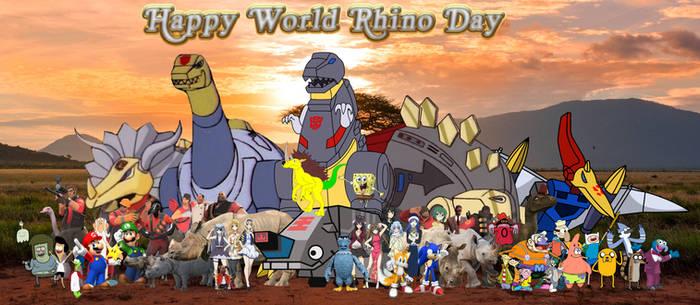 The gang's Annual World Rhino Day
