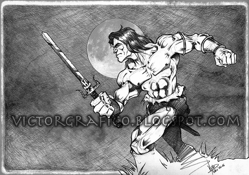 Conan / La Era Hiboria Hyborian Age victorgrafico by victorgrafico