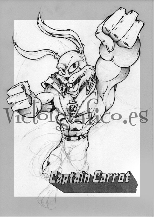 Captain Carrot // Capitan Zanahoria by victorgrafico