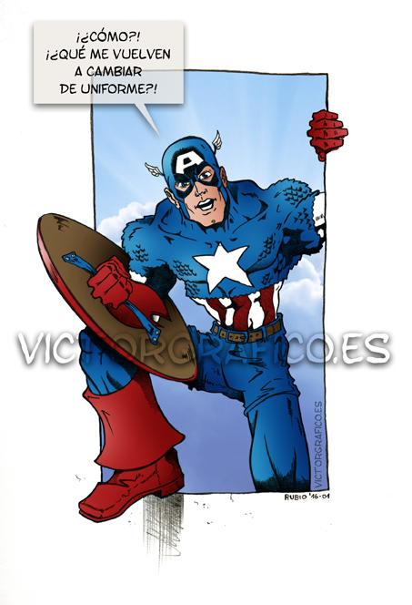 Captain America // Capitan America by victorgrafico
