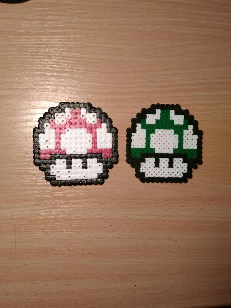 Mushroom And 1up Mushroom Super Mario Brothers 3 By Retrofatass