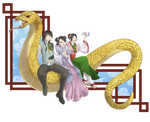 AA: Nice clothes, rice wine, and that gold snake