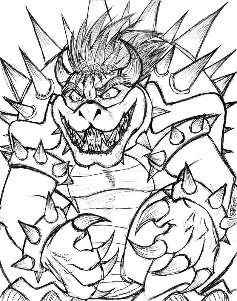 Bowser Fanart Sketch by ToughWeasel on DeviantArt