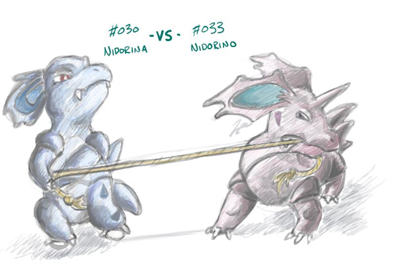Nidorina+Nidorino: rivalry by Neriad on DeviantArt