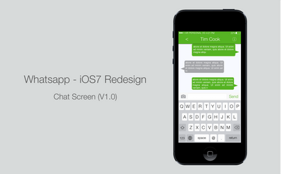 Whatsapp Redesign Proposal (Chat Screen)