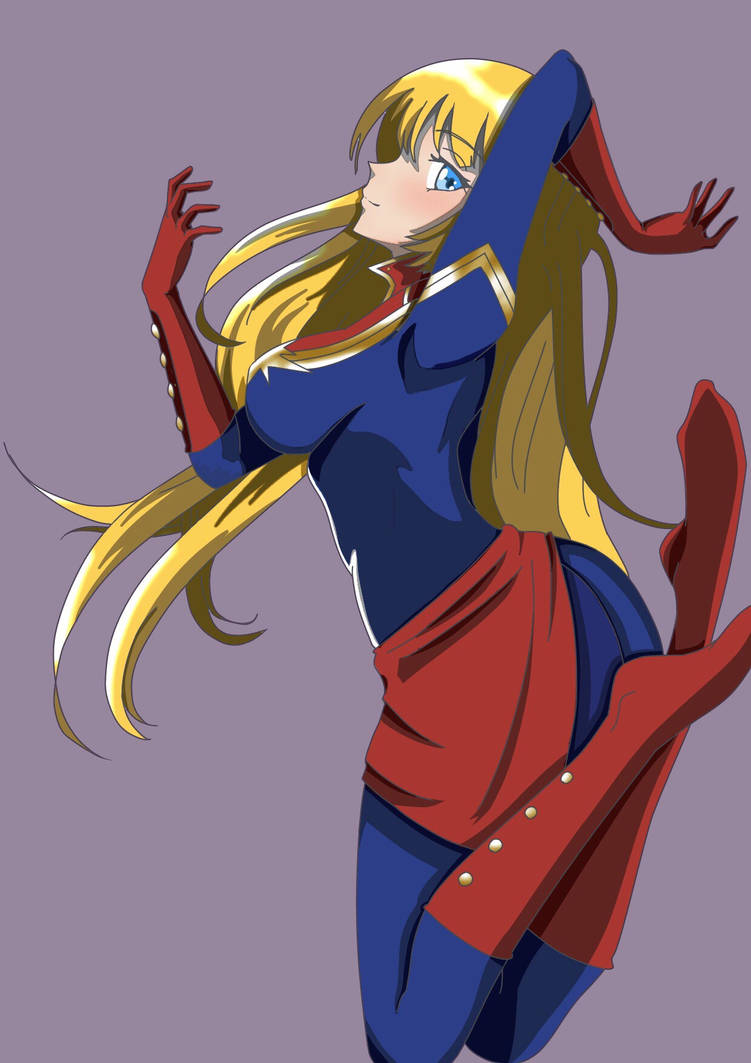 anime style: captain marvelblueskies55 on deviantart