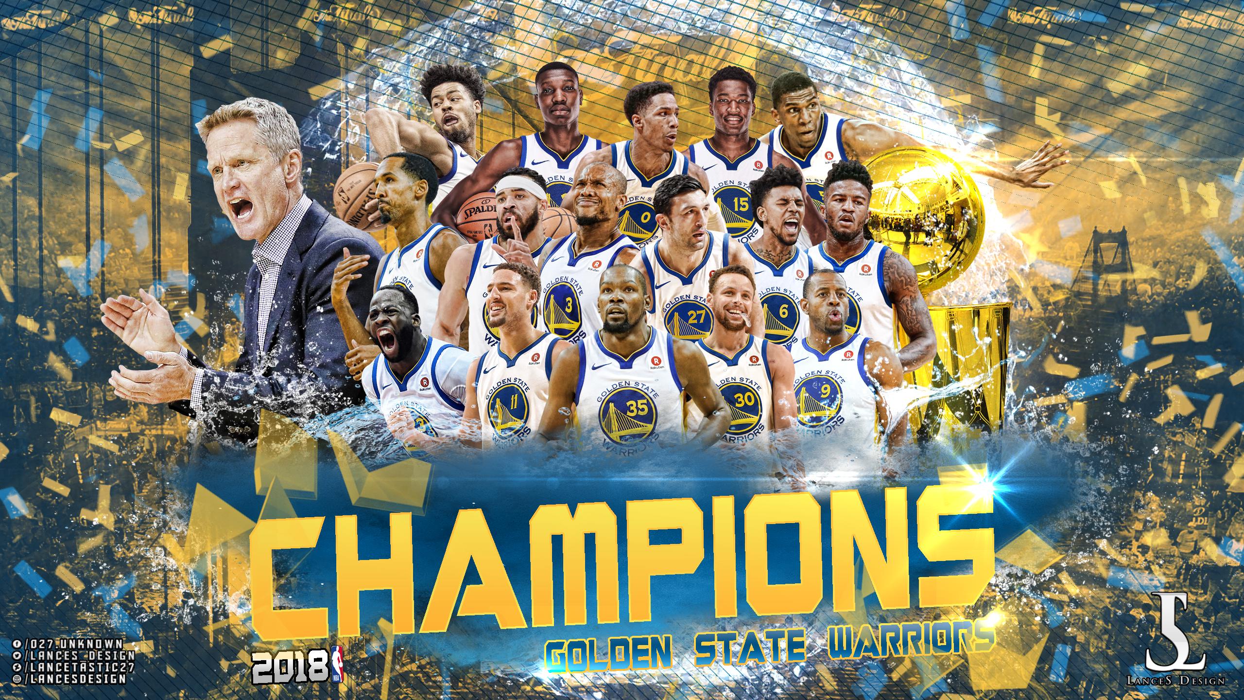 2018 Nba Champion Golden State Warriors Wallpaper By Lancetastic27 On Deviantart