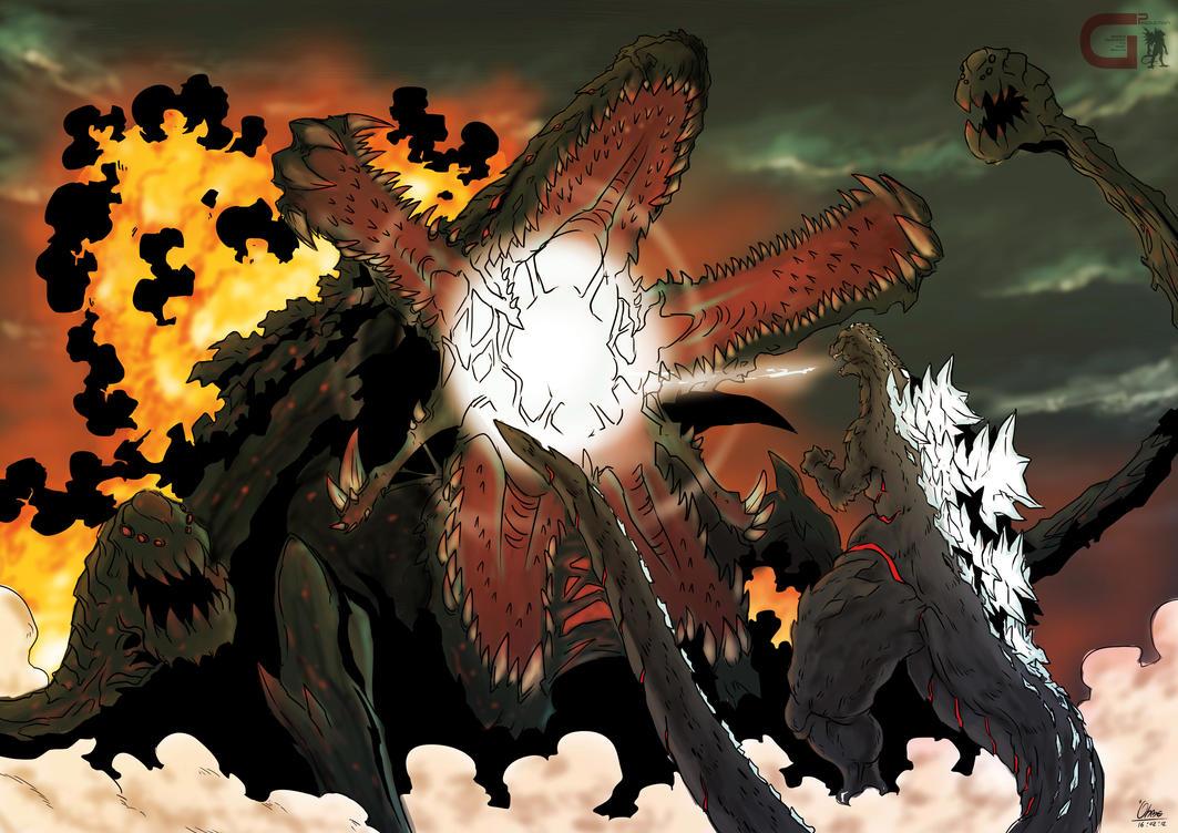 Godzilla VS Biolante V.GARAYANN by OHMEGA18