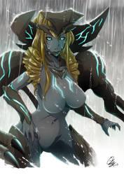 Kaiju Girl : SCUNNER by GARAYANN