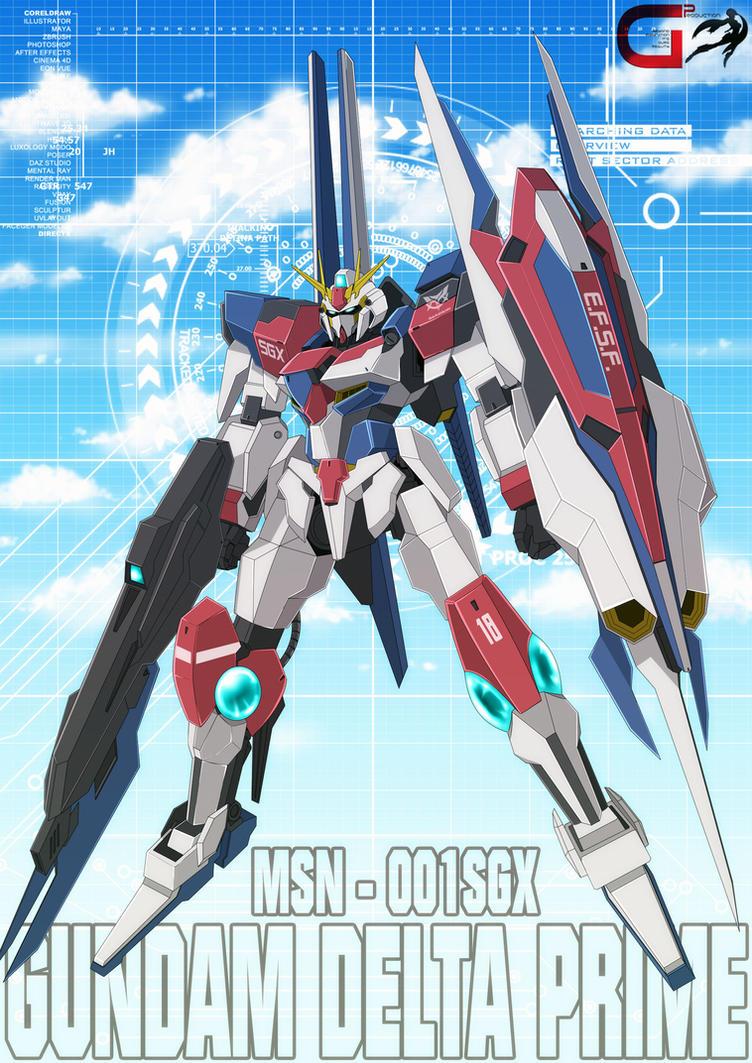 MSN-001SGX GUNDAM DELTA PRIME by OHMEGA18