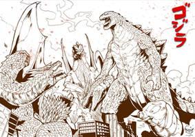 DESTROY ALL MONSTER 2 by GARAYANN