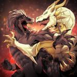 Devil Raptor VS Angel Dragon