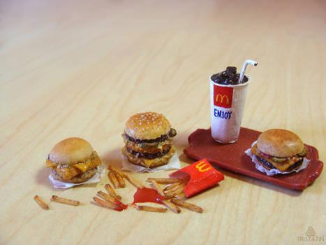McDonald's inspired miniature food