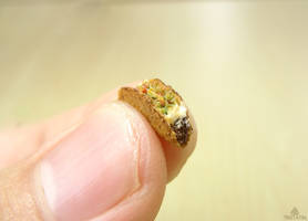 1:12 miniature taco from polymer clay by Tristatin