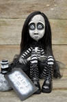 Alice, Gothic cloth and clay doll. by VeronikaLozovaya