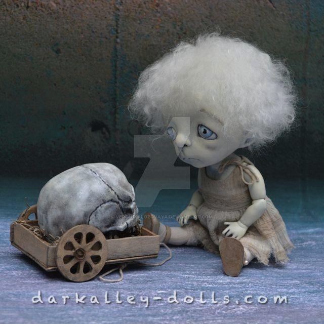 Dark Alley Art Doll Poppy  Broken Flowers series by VeronikaLozovaya