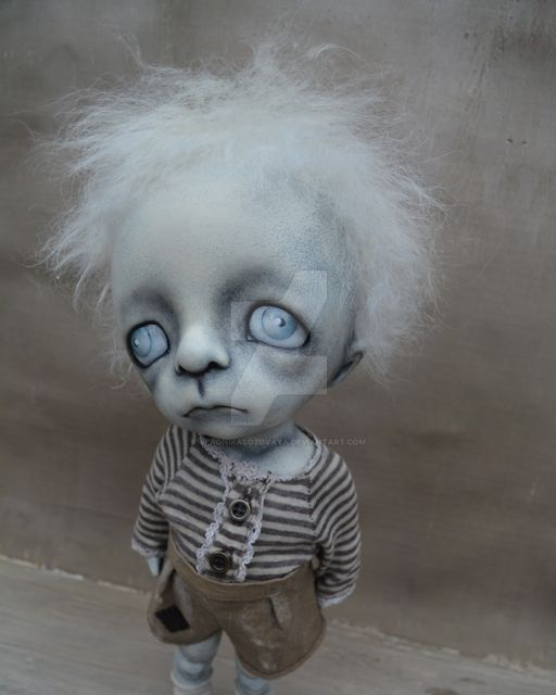 Gothic Boy. Dark Alley Art Doll. BJD. by VeronikaLozovaya