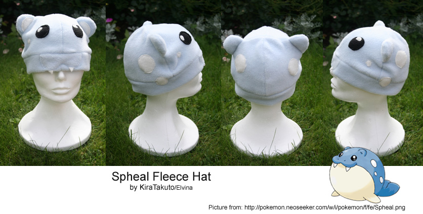 Spheal Fleece Hat by KiraTakuto
