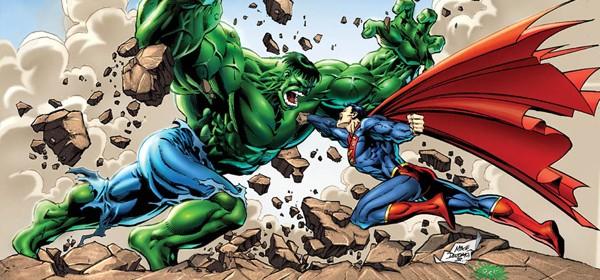 DC Superman vs Marvel Hulk by epicheroes