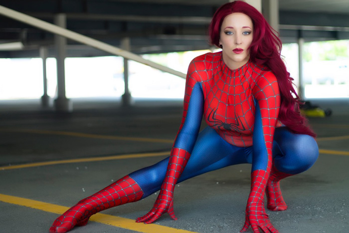 Spider Girl Cosplay Hot Body Paint