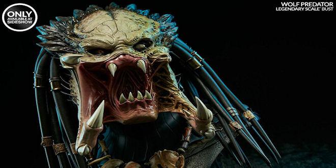 Aliens vs Predator Requiem 1/2  Wolf Predator Bust by epicheroes