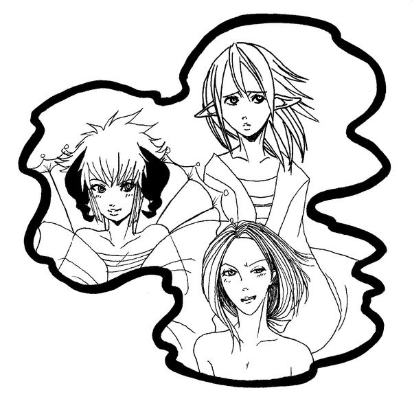 Line Art Practice : Line art practice by animegurufan on deviantart