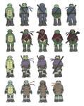 TMNT AU: Character designs