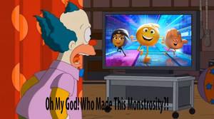 Krusty watches The Emoji Movie