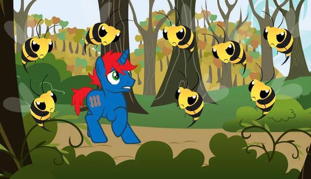BEES!!! RUN!!!