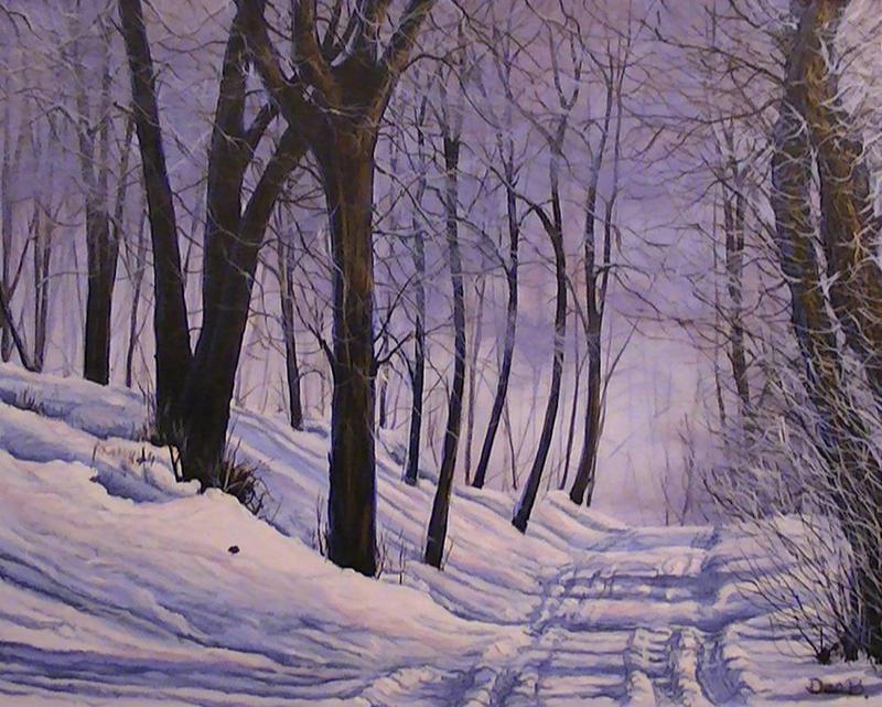 Snowy Road by DanBurgessTheArtist