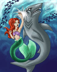 Ariel vs. Shark