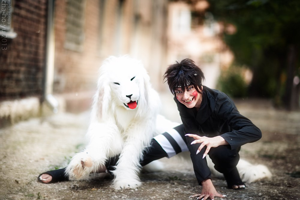 Kiba and Akamaru by Bad-Llama