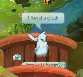 Animal jam screenshot with colour glitch by SofiAndCio