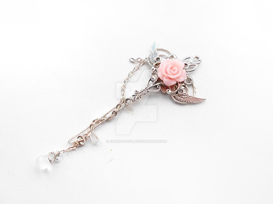Pink rose key pendant by elyon freya on deviantart pink rose key pendant by elyon freya audiocablefo