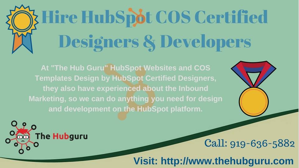 Hire HubSpot COS Certified Designers and Developer by hubguru