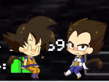 Goku and Vegeta (on FNAF video) by YugiohGirl295