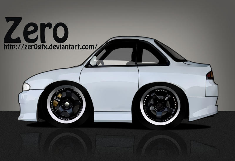 Nissan Silvia Mini Car Toon by Zer0Gfx