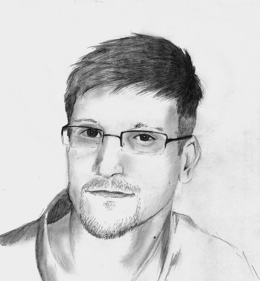 Edward Snowden by TravisKeaton