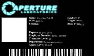 Aperture Science ID Badge