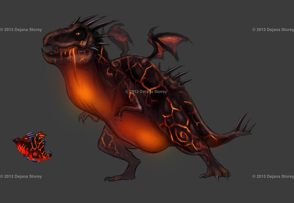 Dragonvale - Lava Dragon WIP by DLouiseART on DeviantArt