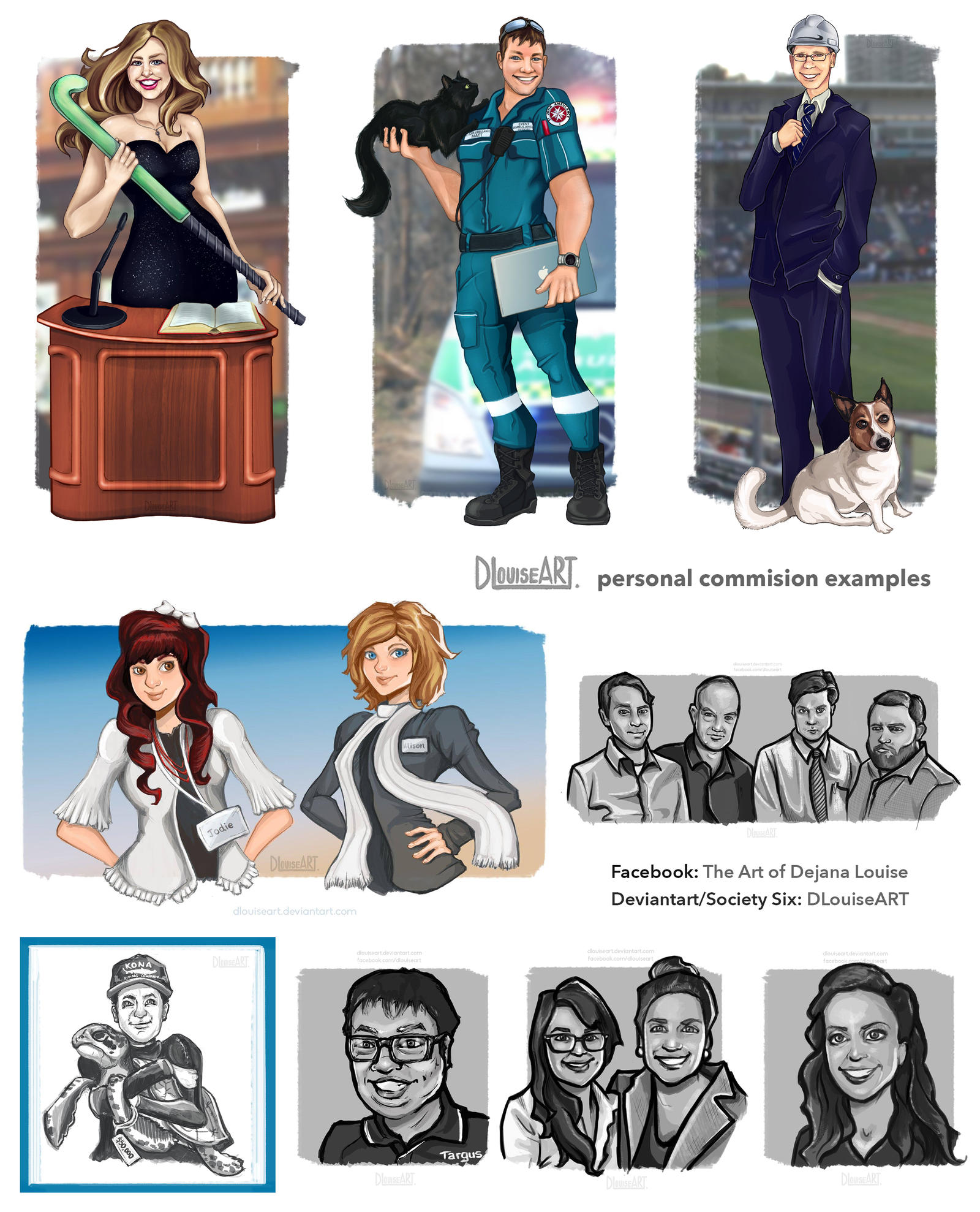 COMMISSION EXAMPLES by DLouiseART