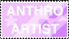 anthro artist stamp by smolfaerie