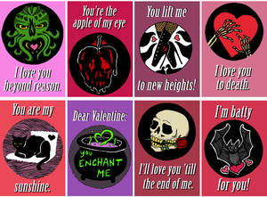 Creepy In Love Valentines Cards