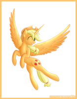 Alicorn Applejack by JamesHalt